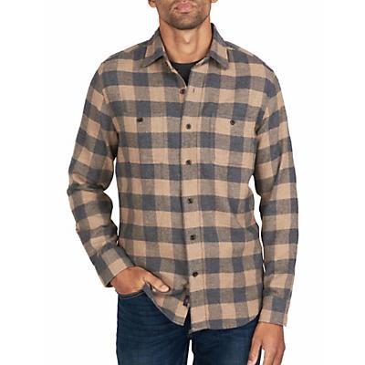 Faherty Seasons Long Sleeve Shirt - Sand Charcoal Buffalo
