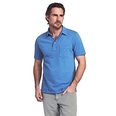 Faherty Sunwashed Polo Shirt - Cobalt
