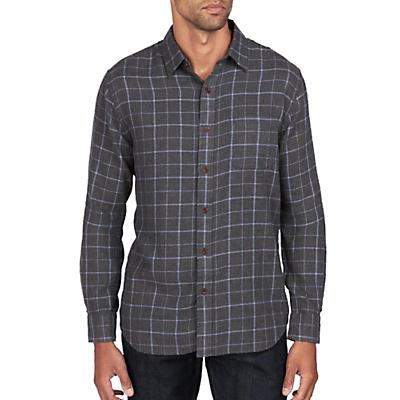 Faherty Ventura Long Sleeve Shirt - Blue Melange Windowpane