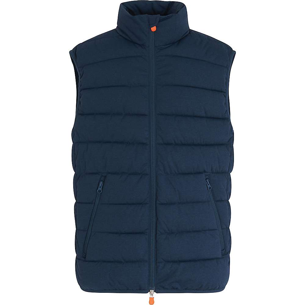 Save The Duck Men's Signature Stretch Vest – Small – 209 Navy Blue Melange