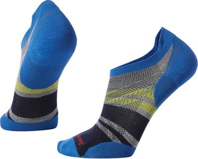 Smartwool PhD Run Ultra Light Pattern Micro Sock - Medium - Light Gray