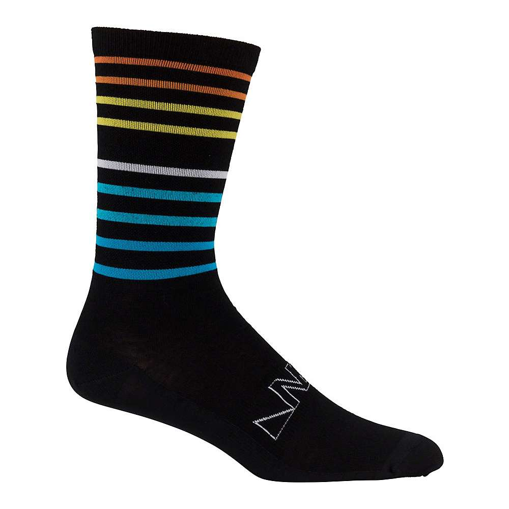 Image of 45NRTH Team Edition Lightweight Crew Sock - Small - Black/Multi-