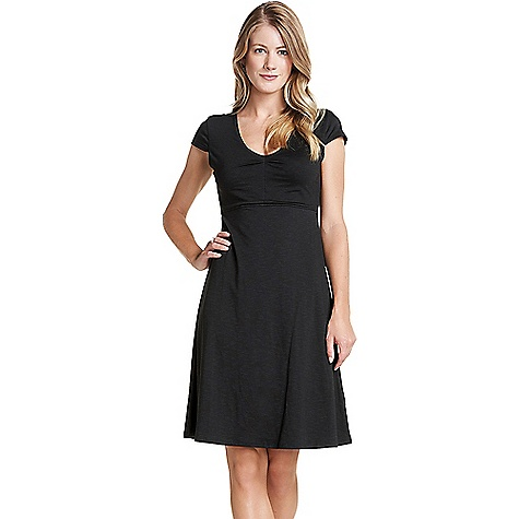 Toad & Co Women's Rosemarie Dress Black Toad & Co Women's Rosemarie Dress - Black - in stock now. FEATURES of the Toad & Co Women's Rosemarie Dress Moisture-wicking Bluesign certified fabric Oeko-Tex 100 certified fabric Double-layer bodice Hidden zipper secure stash pocket on side seam Fabric Details 48% Tencel, 48% Organic Cotton, 4% Spandex