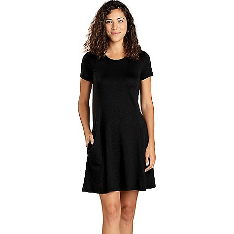 Toad & Co Women's Windmere SS Dress Black Toad & Co Women's Windmere SS Dress - Black - in stock now. FEATURES of the Toad & Co Women's Windmere Short Sleeve Dress Moisture-wicking Bluesign certified fabric Oeko-Tex 100 certified fabric On-seam hand pockets Fit-n-flare silhouette Fabric Details 48% Tencel, 48% Organic Cotton, 4% Spandex