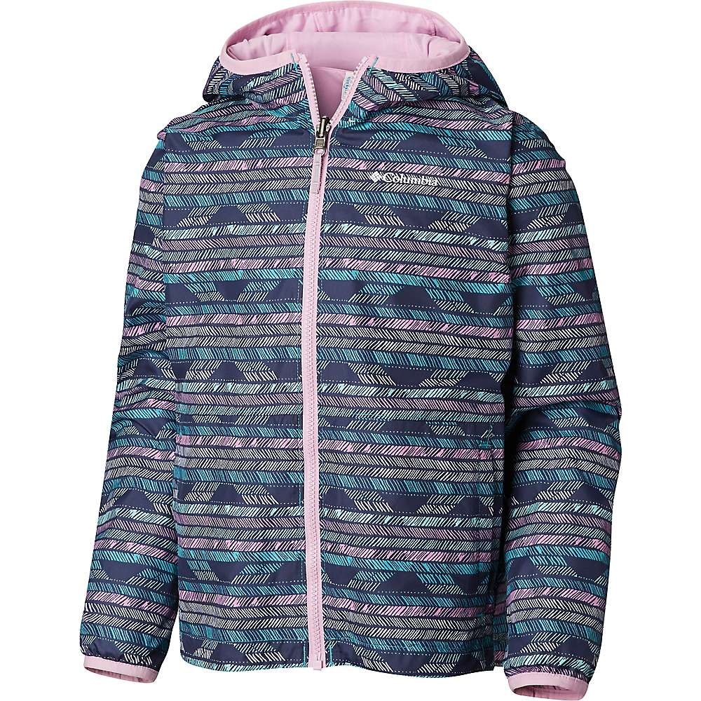 Columbia Youth Pixel Grabber Reversible Jacket - Small - Geyser Chevron Pencil