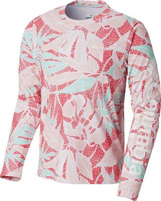 Columbia Youth Super Terminal Tackle LS Shirt - Medium - Wild Geranium Palms