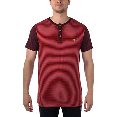 Tentree Gunnison SS Henley - Baked Apple/Red Mahogany Stripe/Red Mahogany - Men