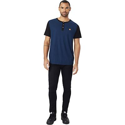 Tentree Gunnison SS Henley - Dark Denim Navy/Meteorite Black - Men