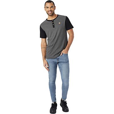 Tentree Gunnison SS Henley - Gargoyle Grey/Meteorite Black Stripe - Men
