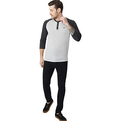 Tentree Standard 3.25 Henley - Hi Rise Grey/Meteorite Black - Men