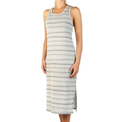 Icebreaker Yanni Tank Midi Dress - Lunar Heather / Panther / Scratch Stripe - Women