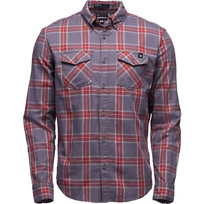 Black Diamond Benchmark LS Shirt - Anthracite / Red Oxide / Alloy - Men