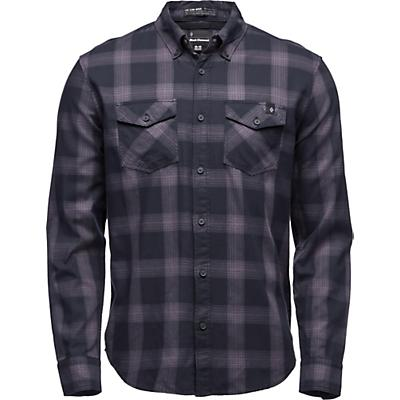 Black Diamond Benchmark LS Shirt - Black / Anthracite / Carbon Plaid - Men