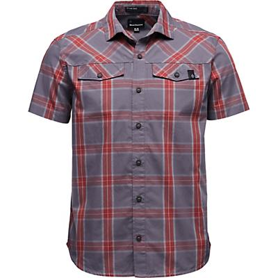 Black Diamond Benchmark SS Shirt - Anthracite / Red Oxide / Alloy Plaid - Men