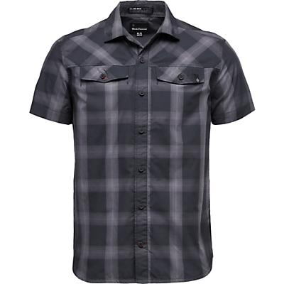 Black Diamond Benchmark SS Shirt - Black / Anthracite / Carbon Plaid - Men