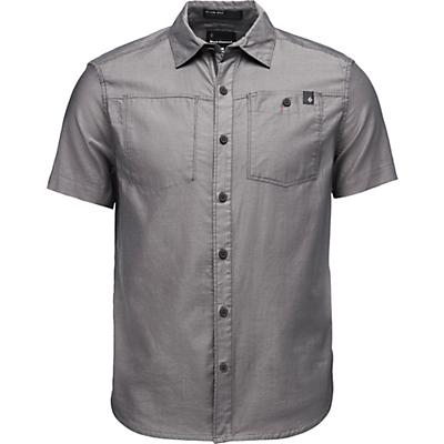 Black Diamond Solution SS Shirt - Black / Ash - Men
