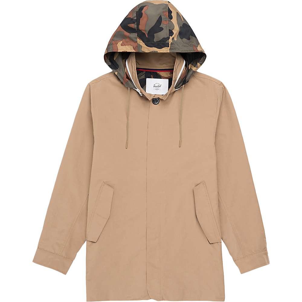 Herschel Supply Co Men's Stowaway Mac Jacket – Small – Khaki / Woodland Camo
