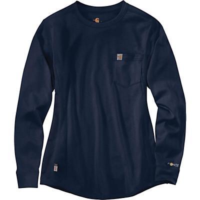 Carhartt Flame Resistant Force Cotton LS Crew T-Shirt - Dark Navy - Women