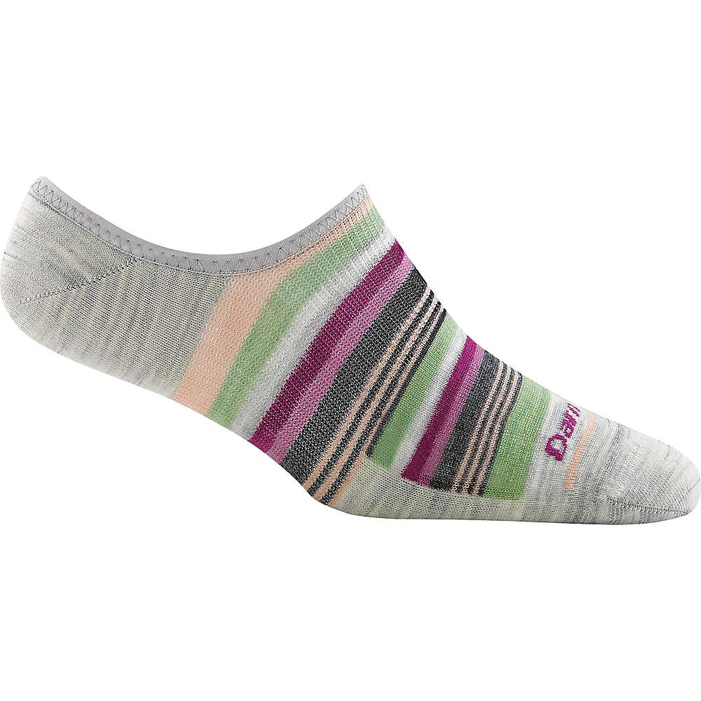 Darn Tough Women's Topless Multi Stripe Sock - Small - Ash