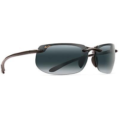 Maui Jim Banyans Polarized Sunglasses - Universal Fit - Gloss Black/Neutral Grey