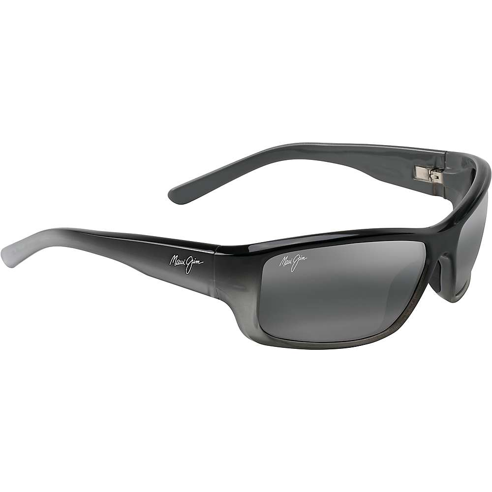 Maui Jim Barrier Reef Polarized Sunglasses - One Size - Black with Silver and Grey/Neutral Grey