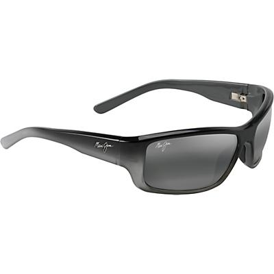 Maui Jim Barrier Reef Polarized Sunglasses - Black with Silver and Grey/Neutral Grey
