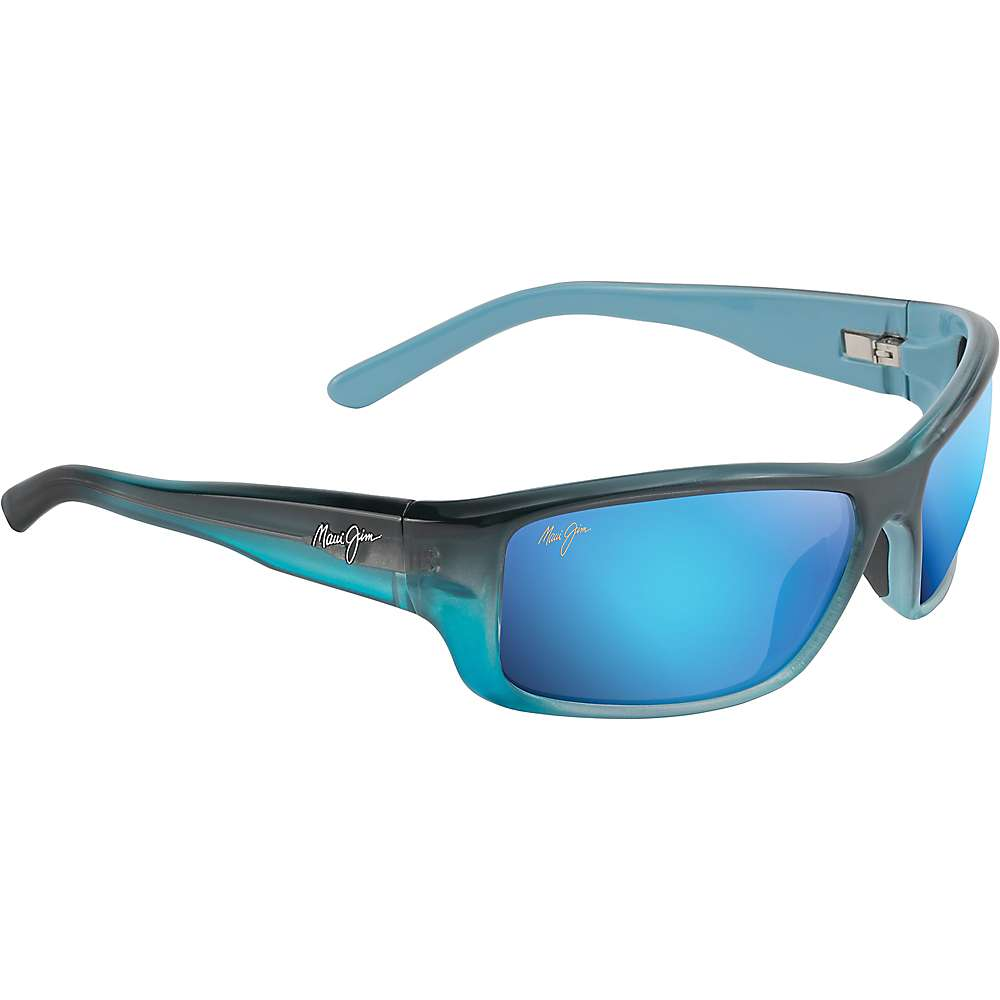 Maui Jim Barrier Reef Polarized Sunglasses - One Size - Blue with Turquoise/Blue Hawaii