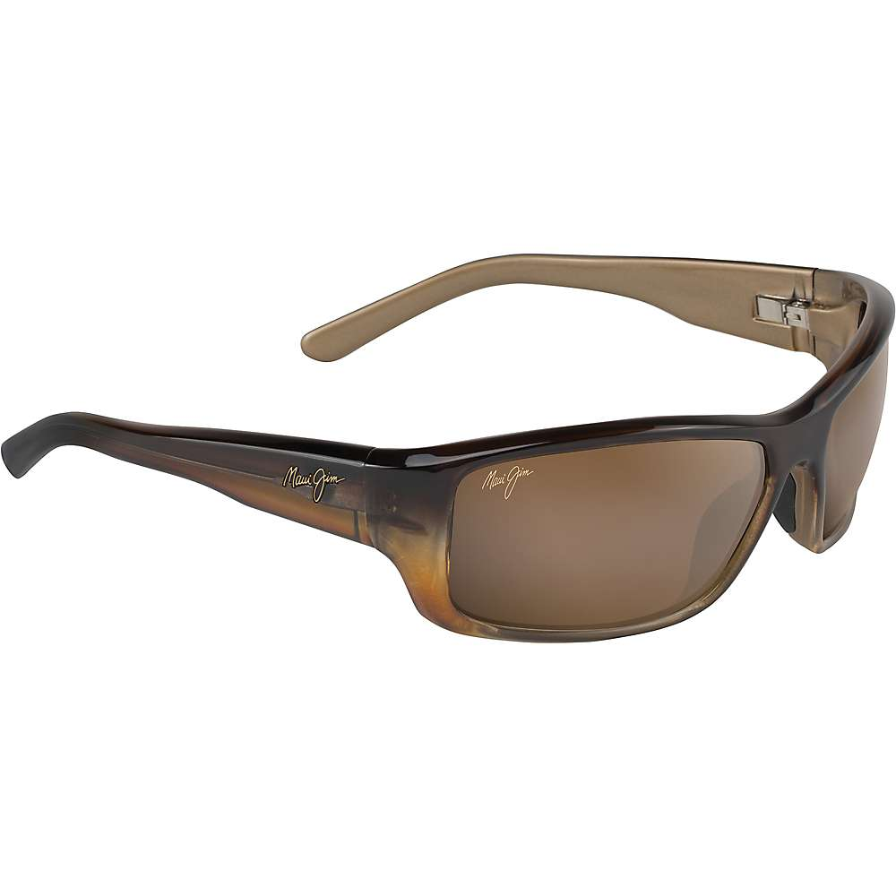 Maui Jim Barrier Reef Polarized Sunglasses - One Size - Brown with Gold/HCL Bronze