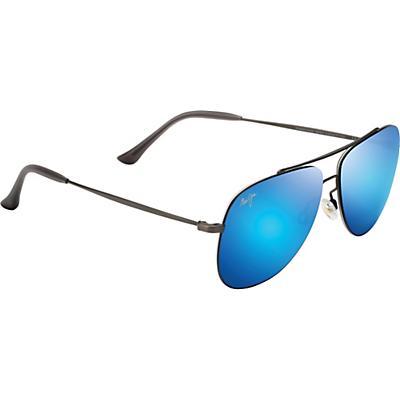 Maui Jim Cinder Cone Polarized Sunglasses - Satin Dark Gunmetal/Blue Hawaii