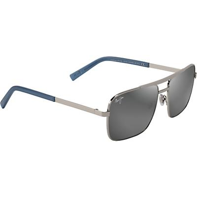 Maui Jim Compass Polarized Sunglasses - Silver/Neutral Grey