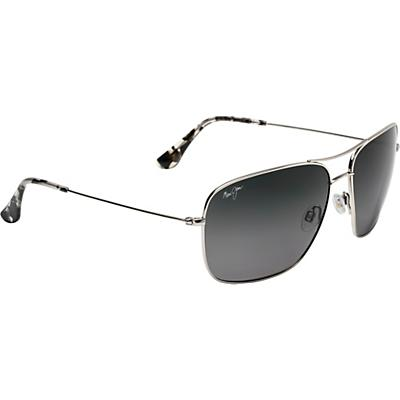 Maui Jim Cook Pines Polarized Sunglasses - Silver/Neutral Grey