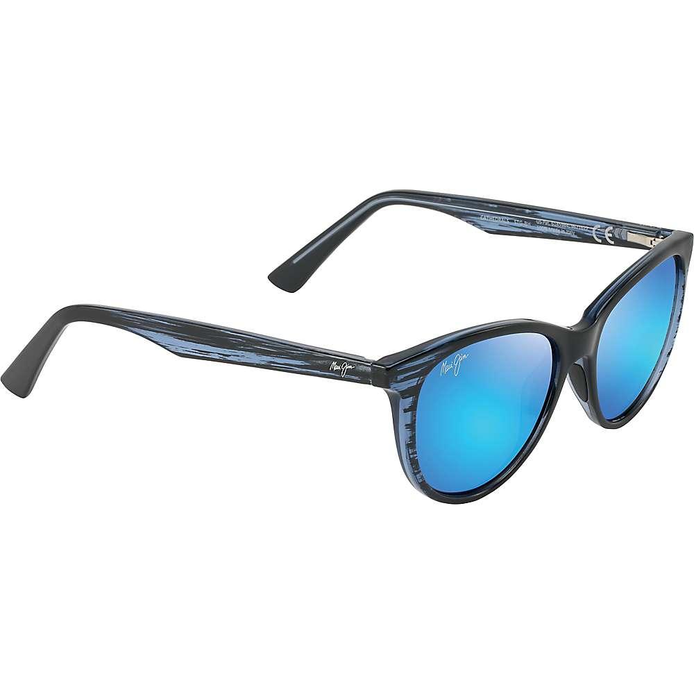 Maui Jim Cathedrals Polarized Sunglasses - One Size - Blue Black Stripe/Blue Hawaii