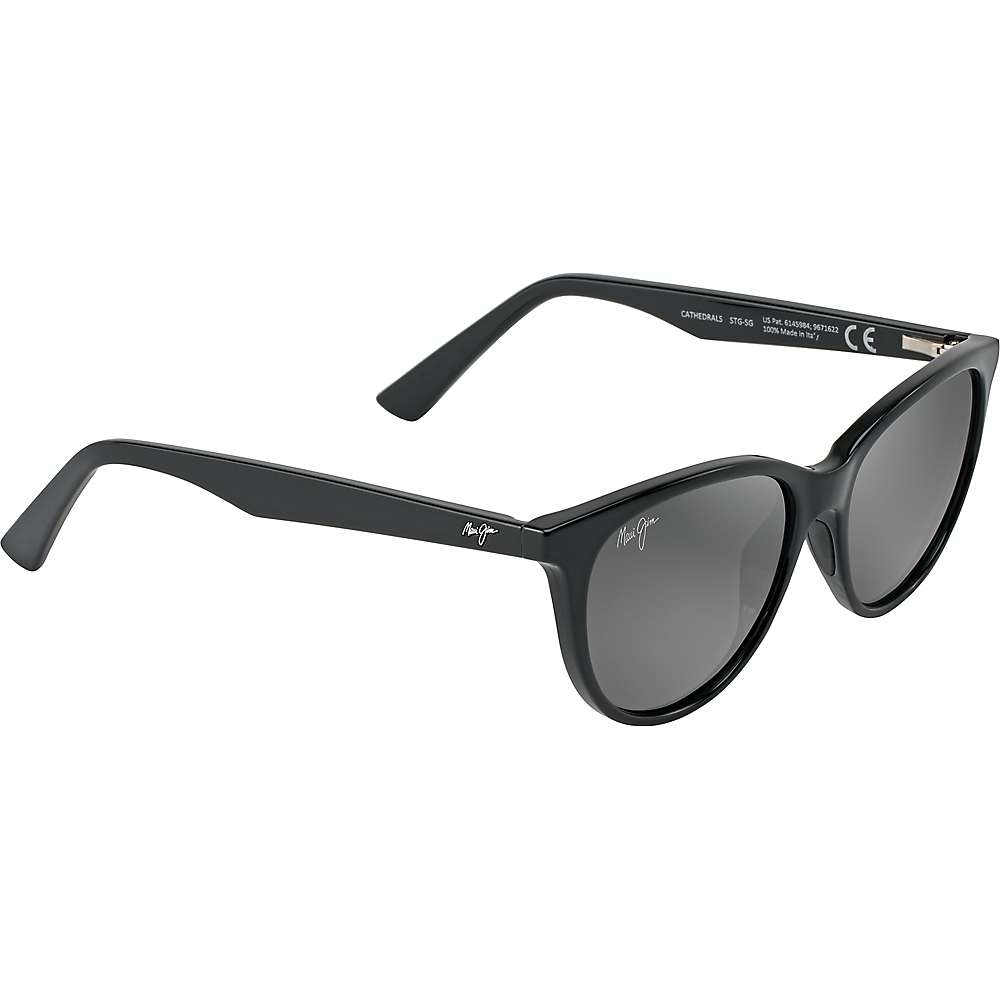 Maui Jim Cathedrals Polarized Sunglasses - One Size - Gloss Black/Neutral Grey