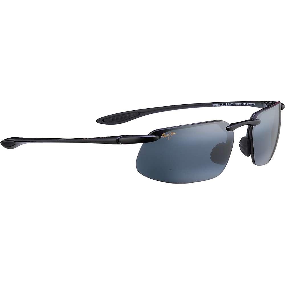 Maui Jim Kanaha Polarized Sunglasses - Universal Fit - One Size - Gloss Black/Neutral Grey