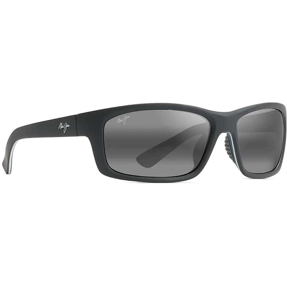 Maui Jim Kanaio Coast Polarized Sunglasses - One Size - Matte Soft Black with White and Blue/Neutral Grey