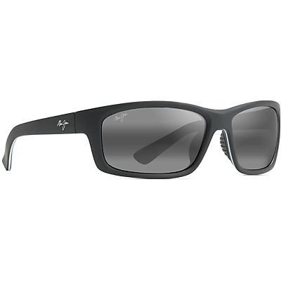 Maui Jim Kanaio Coast Polarized Sunglasses - Matte Soft Black with White and Blue/Neutral Grey