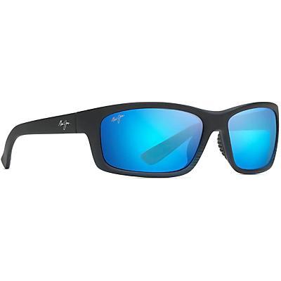 Maui Jim Kanaio Coast Polarized Sunglasses - Matte Translucent Blue Black w/ Stripe/Blue Hawaii