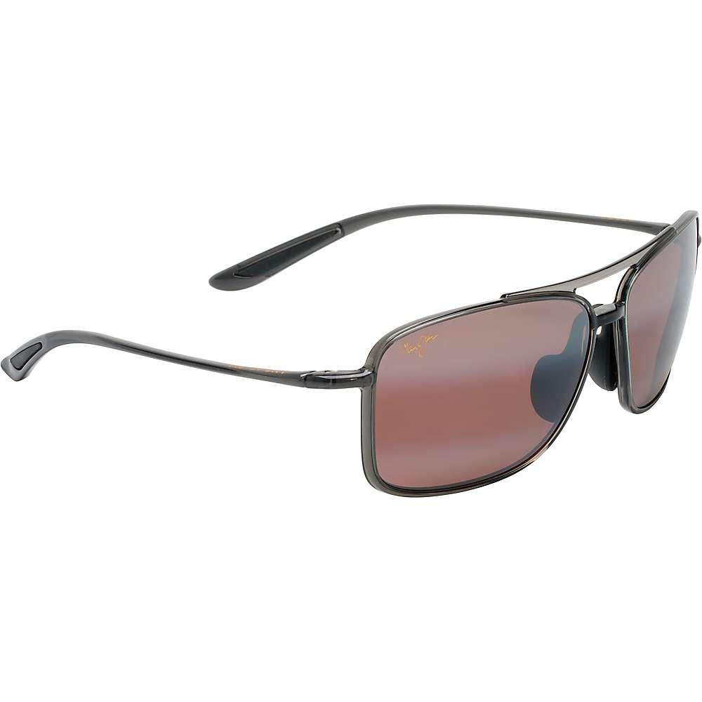 Maui Jim Kaupo Gap Polarized Sunglasses - One Size - Translucent Smoke Grey/Maui Rose