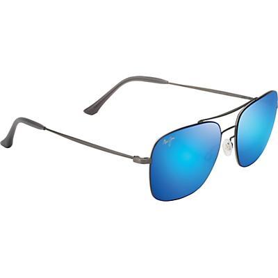 Maui Jim Lava Tube Polarized Sunglasses - Satin Dark Gunmetal/Blue Hawaii