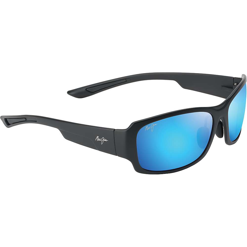 Maui Jim Monkeypod Polarized Sunglasses - One Size - Matte Black/Blue Hawaii
