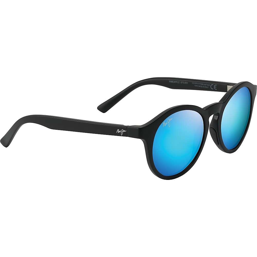 Maui Jim Pineapple Polarized Sunglasses - One Size - Matte Black/Blue Hawaii
