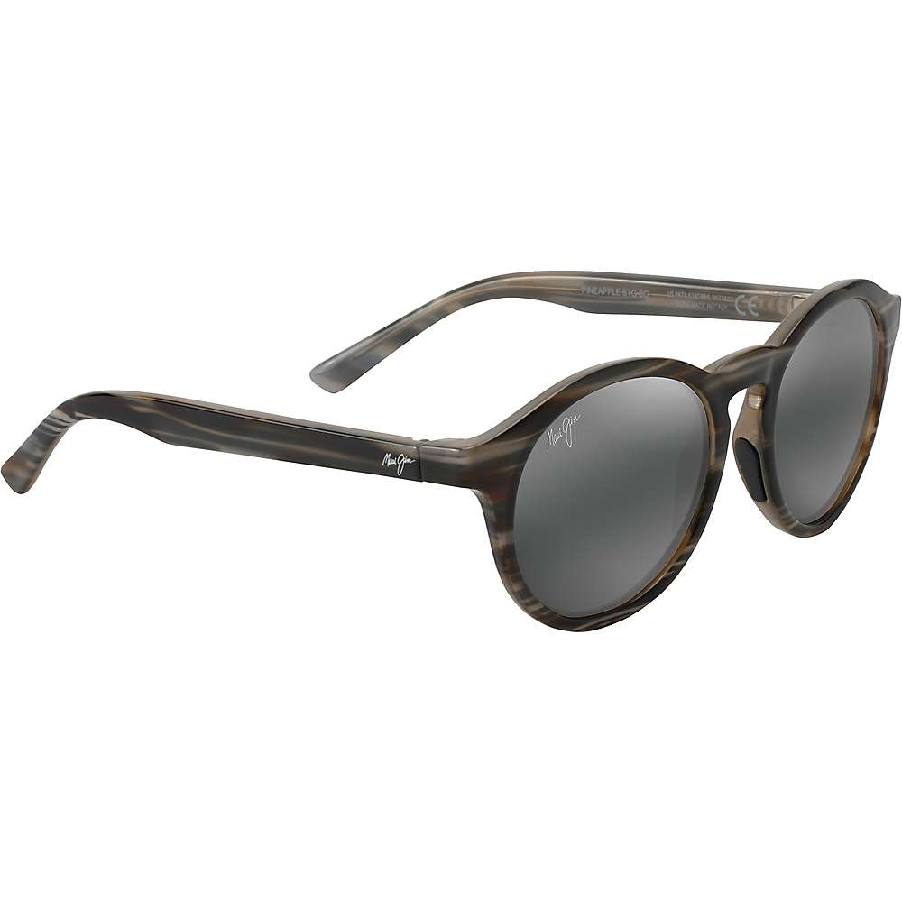 Maui Jim Pineapple Polarized Sunglasses - One Size - Slate Grey and Brown Stripe/Neutral Grey