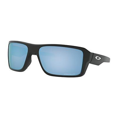 Oakley Double Edge Polarized Sunglasses - Matte Black / Prizm Deep Water Polarized