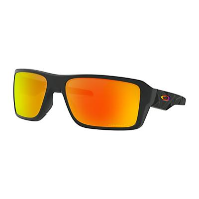 Oakley Double Edge Polarized Sunglasses - Matte Black Prizmatic/Prizm Ruby Polarized
