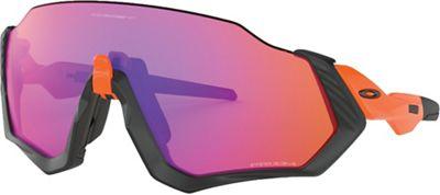 Oakley Flight Jacket Sunglasses - One Size - Matte Black / Orange / PRIZM Trail