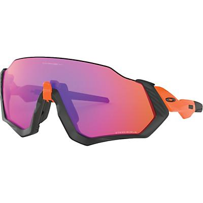 Oakley Flight Jacket Sunglasses - Matte Black / Orange / PRIZM Trail