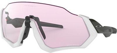 Oakley Flight Jacket Sunglasses - One Size - Matte Grey / Carbon / PRIZM Low Light