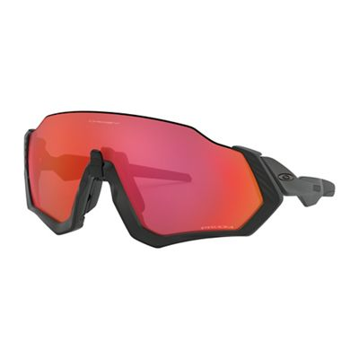 Oakley Flight Jacket Sunglasses - One Size - Matte Black/PRIZM Trail Torch