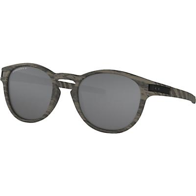 Oakley Latch Polarized Sunglasses - Woodgrain / Prizm Black Polarized