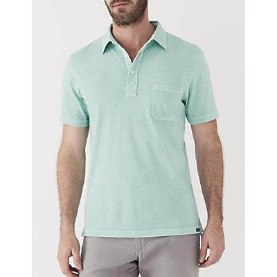 Faherty Sunwashed Polo Shirt - Water Blue